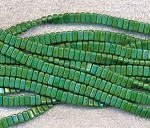 CzechMates 3x6mm Two Hole Brick Beads PERSIAN TURQUOISE Picasso