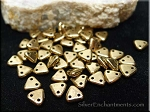 CzechMates 2 Hole Triangle Beads, Metallic BRONZE