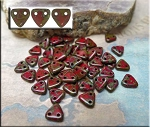 CzechMates Triangle Beads, OPAQUE RED PICASSO