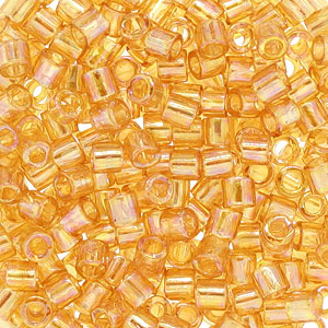 Miyuki Delica Seed Beads, 8/0 Size Light Amber Luster DBL0100-Sz8