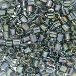 Size 8 Delica Beads, Light Steel Transparent Rainbow, DBL-0107 - SOLDOUT