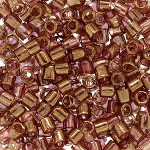 Size 8 Delica Beads, Gold Rose Transparent Luster, DBL-0115