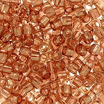 Size 8 Delica Beads, Rose Gold Luster, DBL-0121