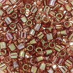 ZSOLDOUT / Size 8 Delica Beads, Golden Brown Transparent Rainbow, DBL-0122