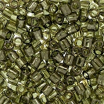 Size 8 Delica Beads, Light Greyish Olive Luster, DBL-0123