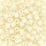 Size 8 Delica Beads, Matte Opaque Ivory, DBL-0352