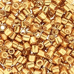 Size 8 Delica Beads Galvanized Bright Gold