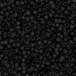 Matte Opaque Black Delicas, Size 11 Delica Seed Beads