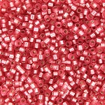 Medium Rose Semi-Matte Silver Lined Delicas, Size 11 Delica Seed Beads