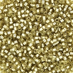 Light Goldenrod Semi-Matte Silver Lined Delicas, Size 11 Delica Seed Beads