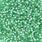 Mint Green Semi-Matte Silver-Lined Delicas, Size 11 Delica Seed Beads
