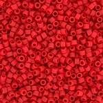 Matte Opaque Dark Red Delicas, Size 11 Delica Seed Beads
