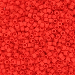 Matte Opaque Bright Red Delicas, Size 11 Delica Seed Beads