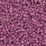 Semi-Matte Opaque Deep Rose Delicas, Size 11 Delica Seed Beads