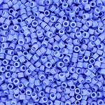 Matte Opaque Periwinkle AB Delicas, Size 11 Delica Seed Beads