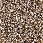 Crystal-Taupe Inside Color Lined with Sparkle Delicas, Size 11 Delica Seed Beads