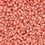 Opaque Peach Delicas, Size 11 Delica Seed Beads