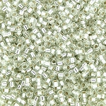 Size 11 Delica Beads, Silver Lined Light Celery Green, DB1431
