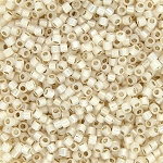 Opaque Alabaster Porcelain Silver-Lined Delicas, Size 11 Delica Seed Beads