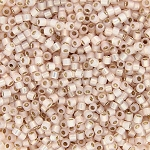 Opaque Alabaster Peach Bisque Silver-Lined Delicas, Size 11 Delica Seed Beads