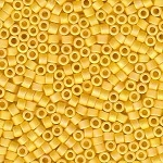 Matte Opaque Marigold Yellow AB Delicas, Size 11 Delica Seed Beads
