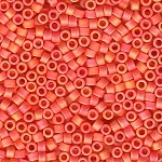 Matte Opaque Mandarin Orange AB Delicas, Size 11 Delica Seed Beads