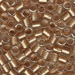 Delicas, Size 8 Delica Seed Beads, Rose Gold ICL with Sparkle, DBL-0901