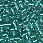 Size 8 Delica Beads, Turquoise ICL with Sparkle, DBL-0904