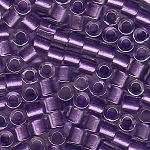 Size 8 Delica Beads, Crystal Purple ICL with Sparkle, DBL-0906