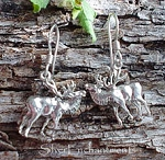 Sterling Silver Elk Earrings, Herne Earrings