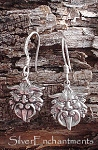 Sterling Silver Gargoyle Earrings, Medieval