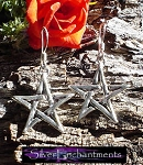 Sterling Silver Pentagram Earrings, Star Earrings