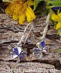 Sterling Silver Shamrock Earrings, Small Clover Earrings