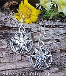 Sterling Silver Fairy Pentacle Earrings