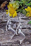 Sterling Silver Mermaid Earrings, Sea Siren Earrings