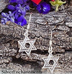 Sterling Silver Star of David Earrings, Small Jewish Star of David Earrings