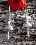 Sterling Silver Fairy on Mushroom Earrings, Sterling Silver Fairy Earrings