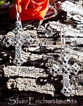 Cross with Celtic Motif Earrings, Sterling Silver Cross Earrings