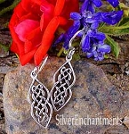 Sterling Silver Celtic Earrings, Celtic Ladder Knot Earrings