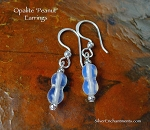 Opalite Earrings, Sea Opal Earrings, Peanut