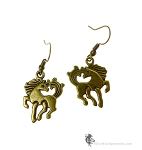 Bronze Horse Earrings, Equestrian Jewelry
