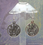 Silver Tetragrammaton Earrings - Everyday Esoteric Pagan Jewelry