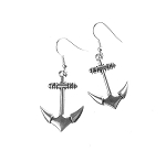 Silver Anchor Earrings, Double Sided Cruising Jewelry