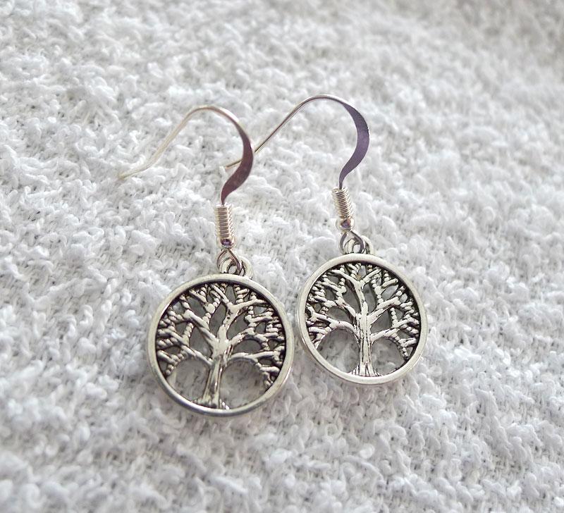 Silver Tree Of Life Earrings