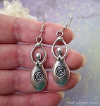 Silver Spiral Goddess Earrings