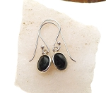 Black Onyx Earrings, Sterling Silver Black Onyx Gemstone Earrings, Root Chakra Protection Earrings, Small Black Onyx Dangle Earrings
