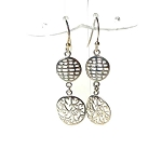 Waffle Filigree Earrings, Sterling Silver