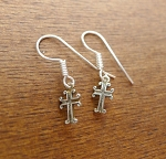 Sterling Silver Small Cross Earrings