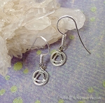 Sterling Silver Alcoholics Anonymous Earrings, Small AA Symbol