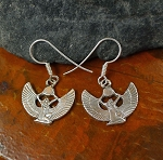 Sterling Silver Isis Earrings